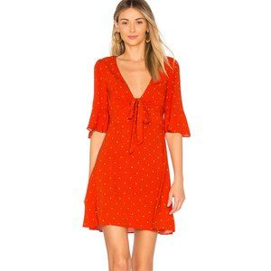 Free People All Yours Mini Size 8 Flame Red Retro